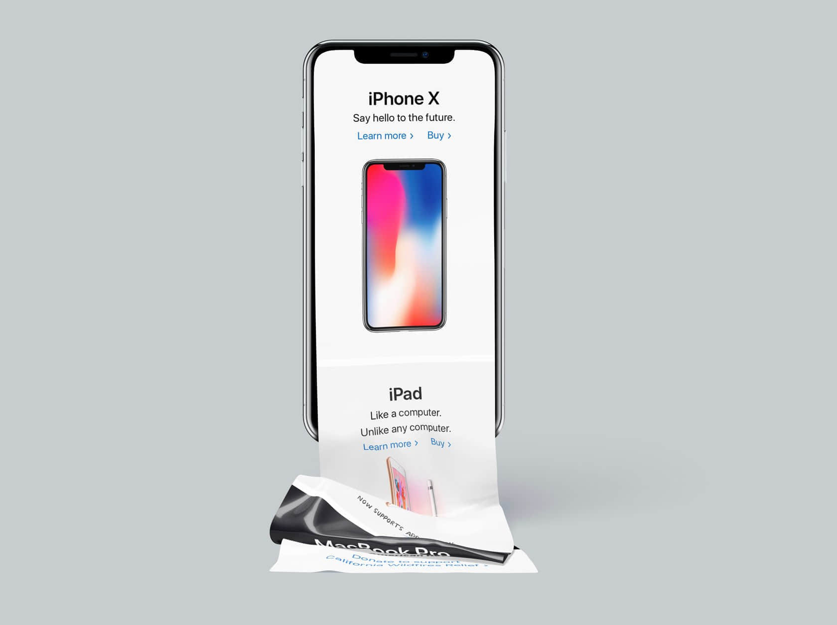iPhone X Long Scroll 长屏模板
